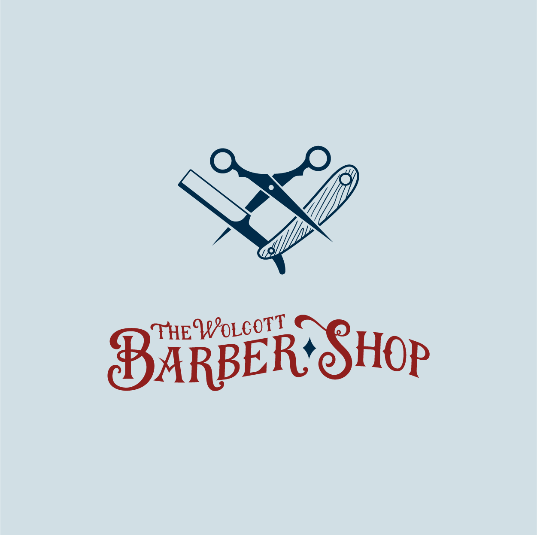 The Wolcott Barber Shop Logo