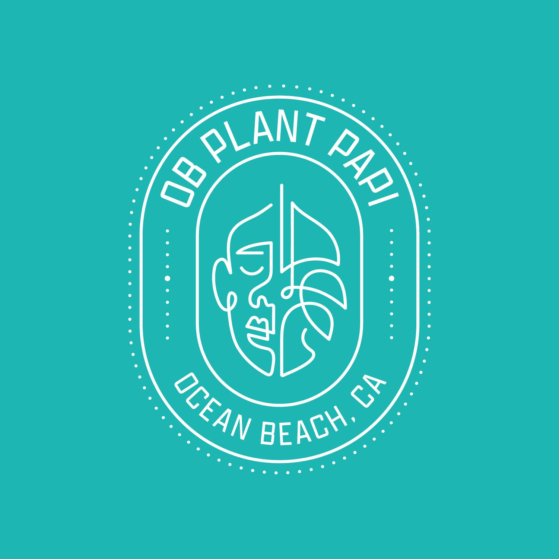 OB Plant Papi Logo Badge